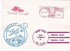 PROJECT VIKING MISSION TO MARS ON RADIO CARD METER CANCEL WASHINGTON DC ... - $1.98