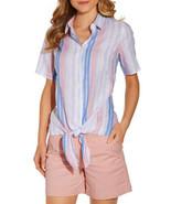 NEW Boston Proper Alexia Admor Linen Tie Front Shirt Size 4 - $19.64