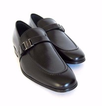 Y-1732208 New Salvatore Ferragamo Pinot Black Leather Loafer Shoe Size U... - $433.90 CAD