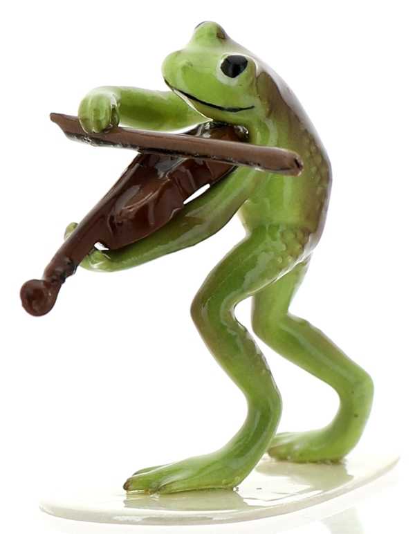 Hagen-Renaker Specialties Froggie Mountain Breakdown Bluegrass Frog Violin