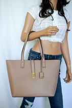 NWT MICHAEL KORS KARSON LARGE CARRYALL TOTE PEBBLED LEATHER BAG FAWN - $96.81