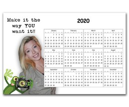 """CUSTOM MAGNET, PERSONALIZED 4"""" X 6"""" MAKE IT MY WAY WITH YEARLY CALENDAR - $7.30"""