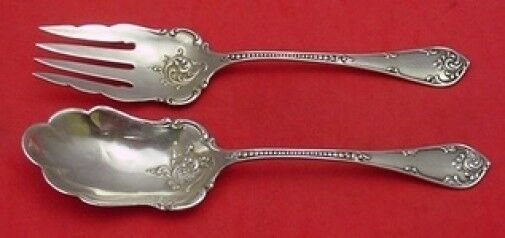 Primary image for Rustic by Towle Sterling Silver Salad Serving Set 9""