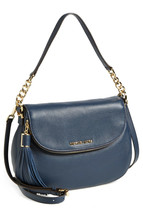 NWT Michael Kors ORIGINAL Bedford Convertible Crossbody Bag NAVY 100% AU... - $208.00
