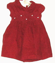 GIRLS RED YELLOW ROSE DRESS SIZE 3-6 MONTHS - $5.00