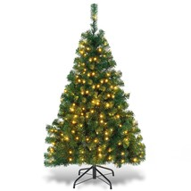 4.5ft PVC Pre-lit Artificial Hinged Christmas Tree - $83.99