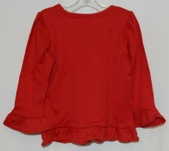 Blanks Boutique Red Long SleeveGirls Cotton Ruffle Shirt Size 18M image 2