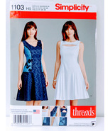 Simplicity 1103 Womens  Dress Sewing Pattern Size H5 6-14 Neck Skirt Var... - $14.00
