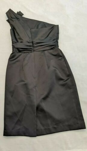 Primary image for Davids Bridal BLACK Dress Bridesmaid size 4 NWT