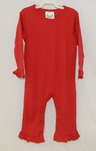 Blanks Boutique Long Sleeve Red Snap Up Ruffled Romper 18 Months image 1