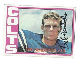 1972 Topps Football #93 Ted Hendricks Colts RC Rookie HOF Signed AUTO EX - $38.69