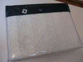 Ralph Lauren HATHERSAGE Bishopgate Cream Knit Throw Blanket $400 - $174.55