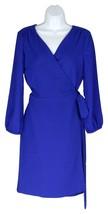 J Crew Women's 365 Crepe Wrap Dress Career Wear to Work Bright Ocean 10 ... - $73.59