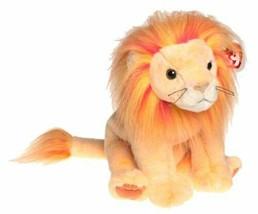 NWT -TY Beanie Baby Bushy The Lion/Leon  Red Orange Yellow 2000 Edition - $3.95