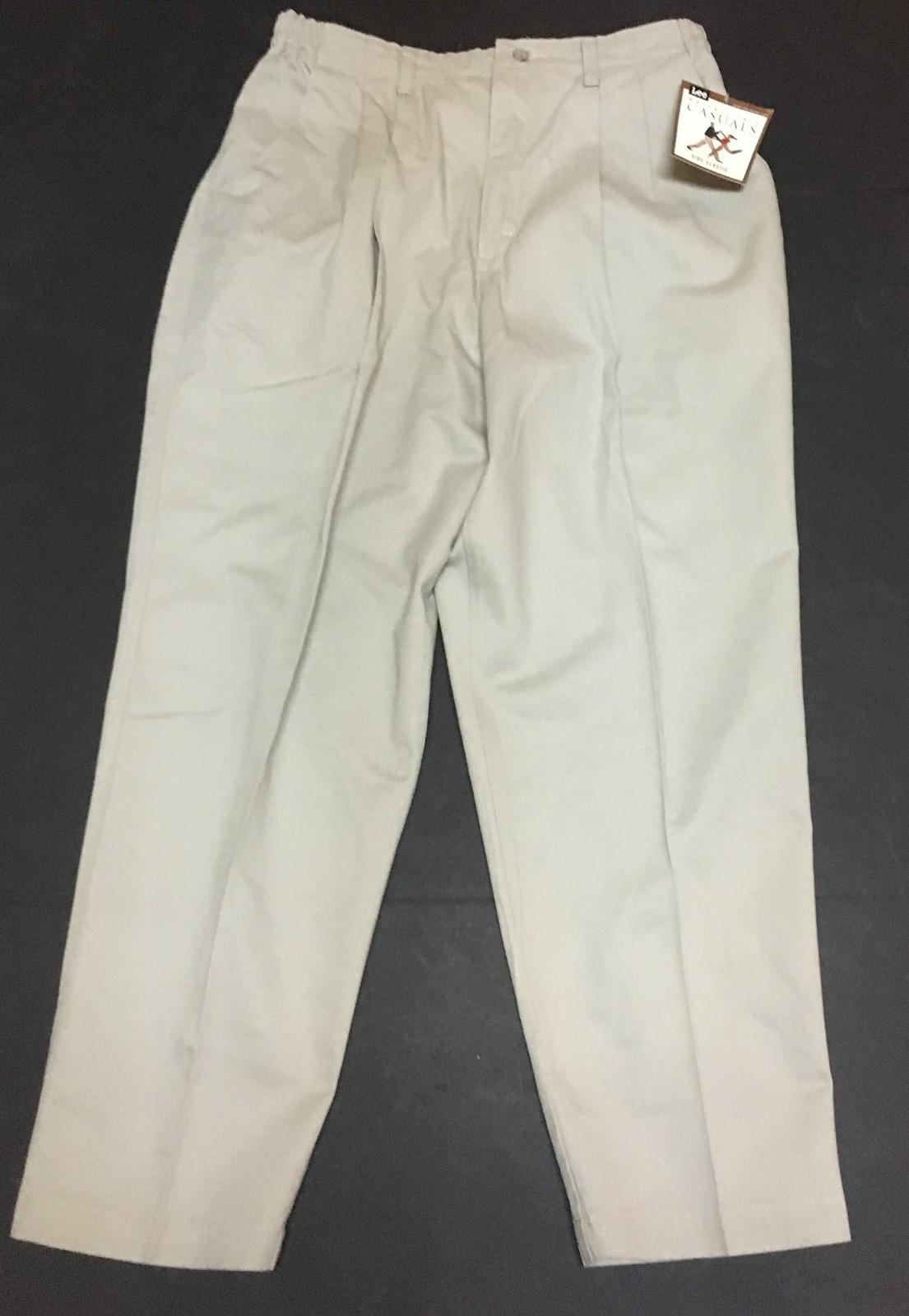 Lee Casuals Beige Pants Sz 16P NWT Wrinkle Free Side Elastic