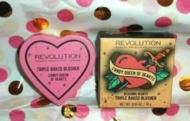 Makeup Revolution London Blushing Hearts Triple Baked Blusher Bronzer Hi... - $12.31
