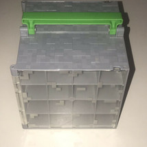 Minecraft Mini Figurines Carrying Case Gray Storage Box Mattel 2014 Pre ... - $118.79