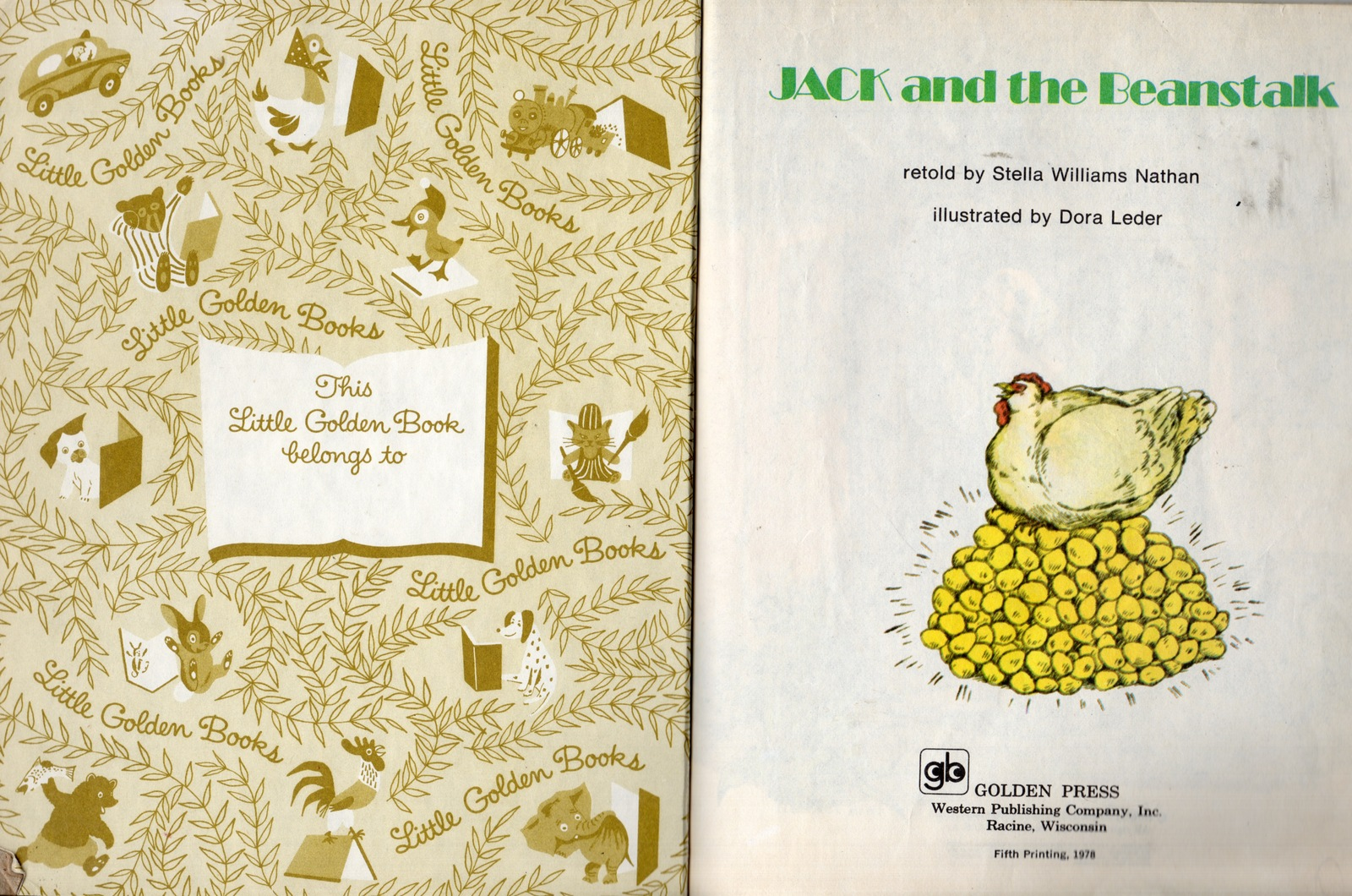 Jack And The Beanstalk - A Little Golden Book