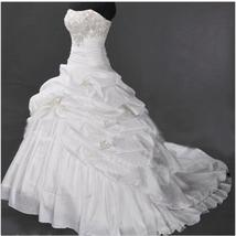 Gogerous Ruffle White China Wedding Dress Pricess Women Bridal Gowns Swe... - $115.00