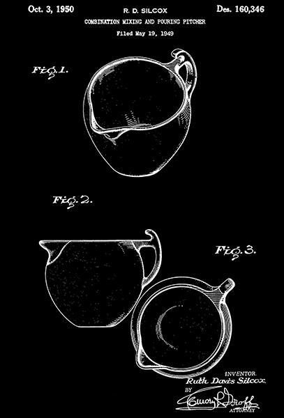 Primary image for 1950 - Mixing & Pouring Pitcher - R. D. Silcox - Patent Art Poster