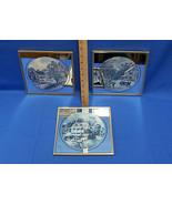 3 Vintage Currier & Ives Framed Mirror Print Goldtone Frame - $15.98