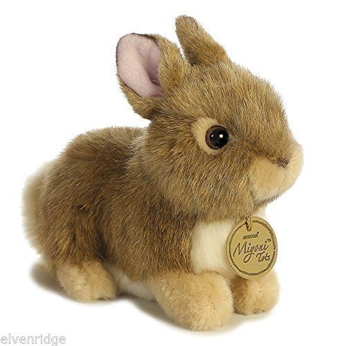 Primary image for Little brown  baby bunny Stuffed Plush Animal perfect for Easter basket stuffer