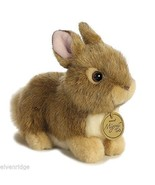 Little brown  baby bunny Stuffed Plush Animal perfect for Easter basket stuffer - $14.84
