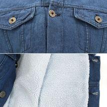 Gary Pallan USA Men's Sherpa Fleece Lined Cotton Denim Jean Trucker Vest image 4
