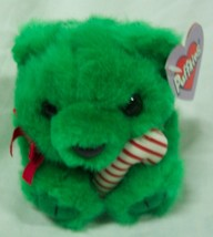 "Puffkins HOLIDAY JINGLES GREEN BEAR W/ CANDY CANE 4"" Plush STUFFED ANIMA... - $14.85"