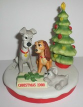 Disney Christmas 1980 Porcelain Large Lady and The Tramp Collectible Fig... - $50.00