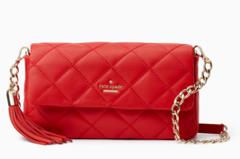 Kate Spade emerson place serena Quilted Leather Chain Should Bag Clutch ... - €190,63 EUR