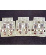 Vintage Printed CIRCUIT BOARD Register 34051C ME1968 set of 3 gold plate... - $37.39
