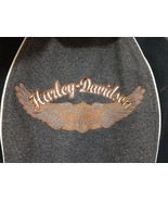 Harley Davidson Womens S  Gray Embroidered Fitted Hooded Fleece Jacket B... - $67.13