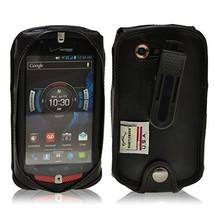Turtleback Black Leather Case for Casio GzOne Commando 4G LTE C811 with ... - $36.99