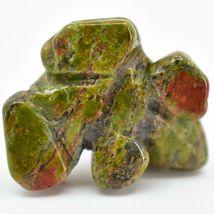 Unakite Jasper Gemstone Tiny Miniature Frog Figurine Hand Carved in China image 5