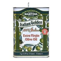 Mantova Golden Italian Extra Virgin Olive Oil, 102-Ounce Tins Pack of 2