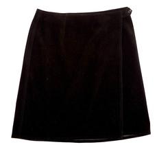 Talbots Stretch Women 10 Petite 10P Black Mini Wrap Velvet Like Skirt EU... - €11,41 EUR