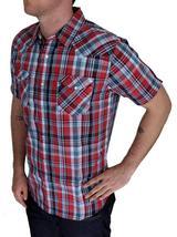 Levi's Men's Classic Button Plaid Red Geometric Shirt 3LYSW6062-App image 3