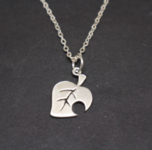 Sterling Silver Animal Crossing New Leaf Pendant Necklace - $42.00