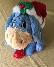 """Disney Store Eeyore Christmas Plush Toy 12"""" Holiday Theme with tag - $14.99"""