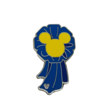 Disney Pins Hidden Mickey Completer Pin 2010 Blue Ribbon - $7.66