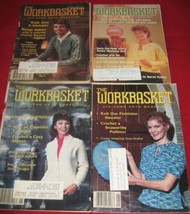 4 Vtg The Workbasket Home Arts Magazines Booklets Knit Crochet 1980s More - $6.92