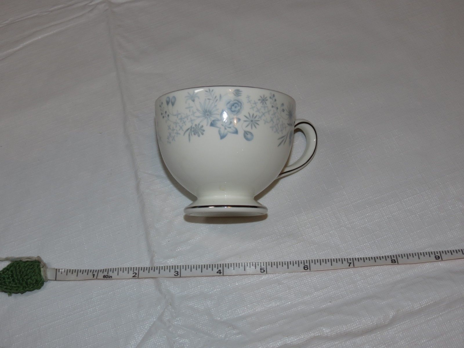 Wedgwood Belle Fleur Bone China 1 Tea Cup Made in England white blue ! image 3