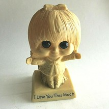 """""""I Love You This Much"""" Vintage 1970 Wallace & Russ Berrie Co's Resin Fig... - $15.64"""