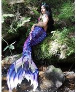 HOT Girls Women Little Mermaid Tails Costume With Monofin Mermaid Beach ... - $99.99+