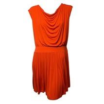 Ann Taylor LOFT Womens Red Cowl Neck Pleated Skirt Sleeveless Mini Dress... - $13.86