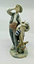 Lladro Spain 4859 Typical Peddler Man Donkey Porcelain Figure Figurine R... - $171.81