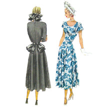 1940s Vintage McCall Sewing Pattern 7132 Misses Fit Flared Afternoon Dre... - $28.95