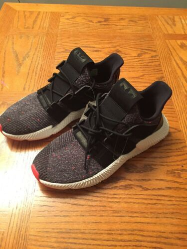 Adidas Mens Prophere Athletic Sneakers sz 9.5 Core Black White Solar Red CQ3022