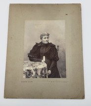 Antique late 1800's photograph portrait older lady beautiful dress - $16.99